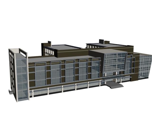 Complex office buildings 3d rendering
