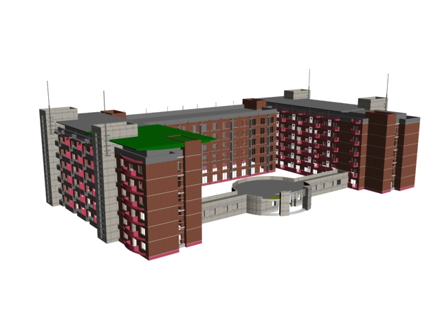 Residential areas architectural 3d rendering