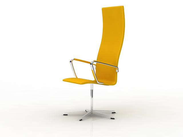 High back swivel chair 3d rendering