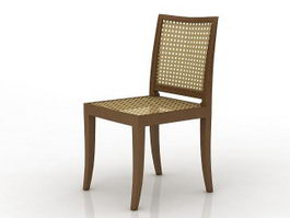 Mesh dining chair 3d preview