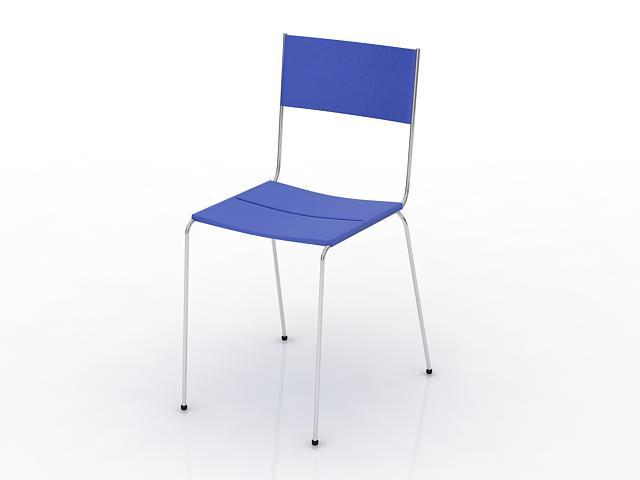 Stackable restaurant chair 3d rendering
