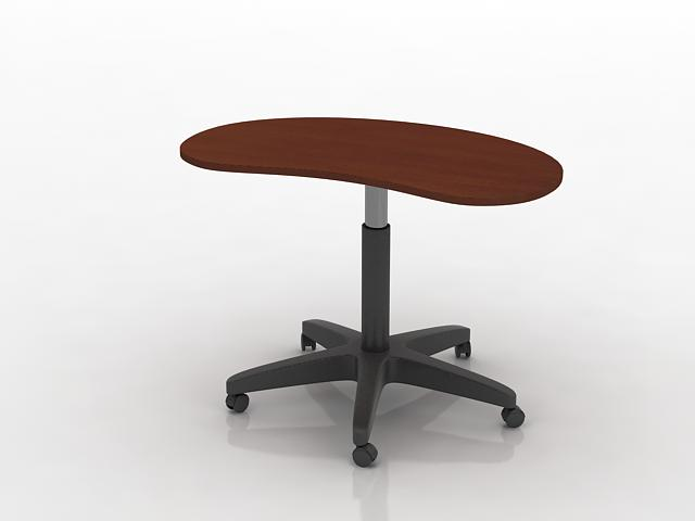 Beauty salon saddle stool 3d rendering