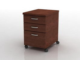Storage filing cabinet 3d preview