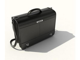 Business leather briefcase 3d preview