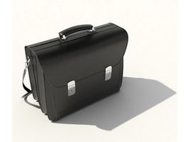 Leather briefcase 3d model preview