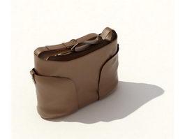 Women leather handbag 3d model preview