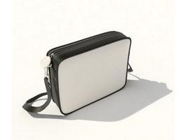 Canvas handbag 3d model preview