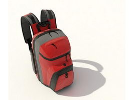 School backpack 3d preview