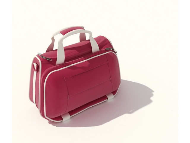 Fashion cosmetic bag 3d rendering