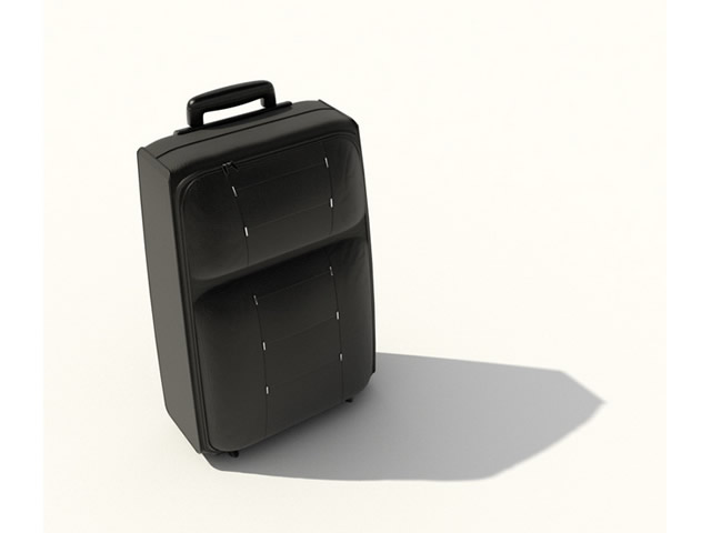 Travelling luggage 3d rendering