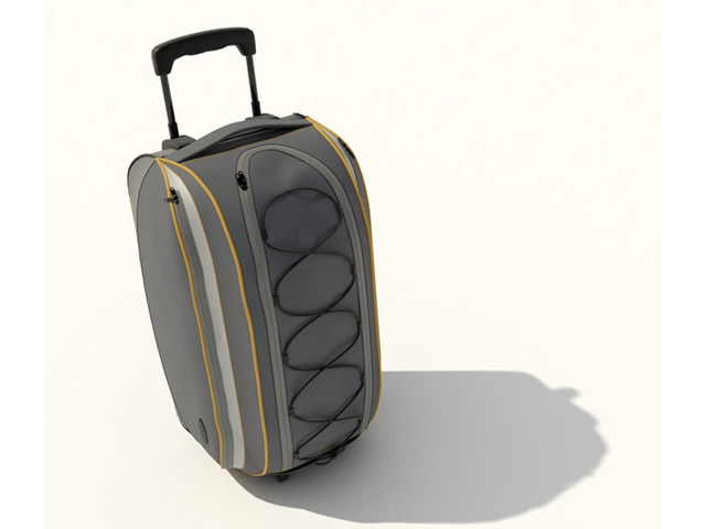 Trolley travel bag 3d rendering