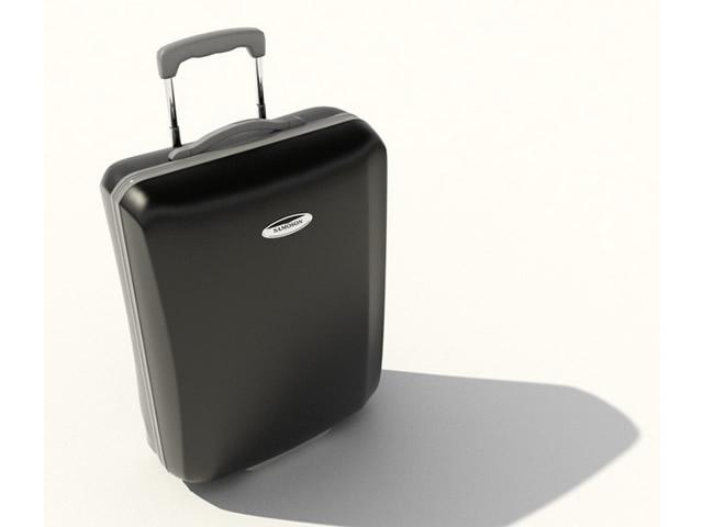 Busineess trolley luggage 3d rendering