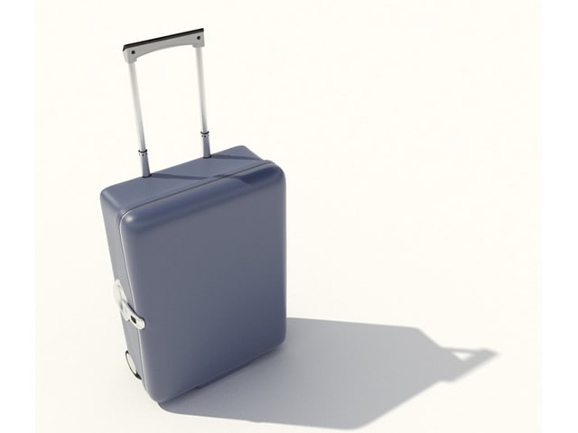 Travelling luggage bag 3d rendering
