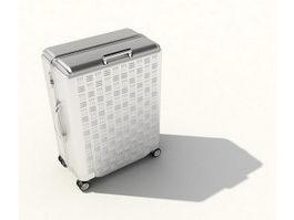 Aluminum luggage case 3d model preview