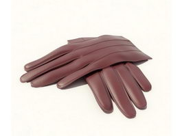 Leather gloves 3d model preview
