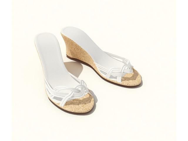 High heel lady sandals 3d rendering