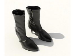 High heel ankle boots 3d preview