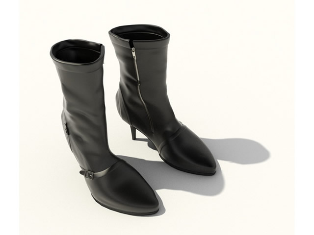 High heel ankle boots 3d rendering