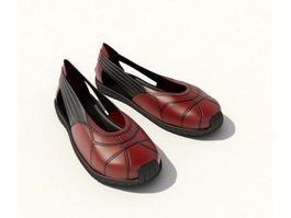 Casual women shoes 3d preview