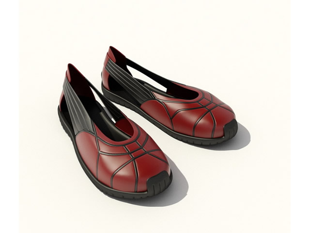 Casual women shoes 3d rendering