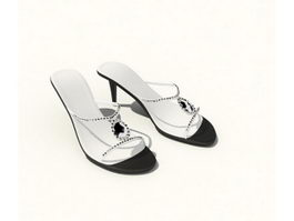 Fashion lady sandal 3d preview