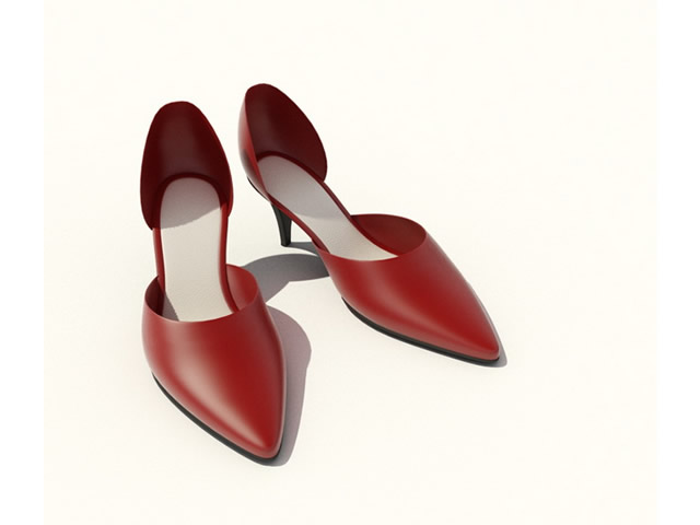Women dress shoes 3d rendering