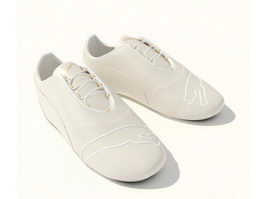 Leather mens casual shoes 3d preview
