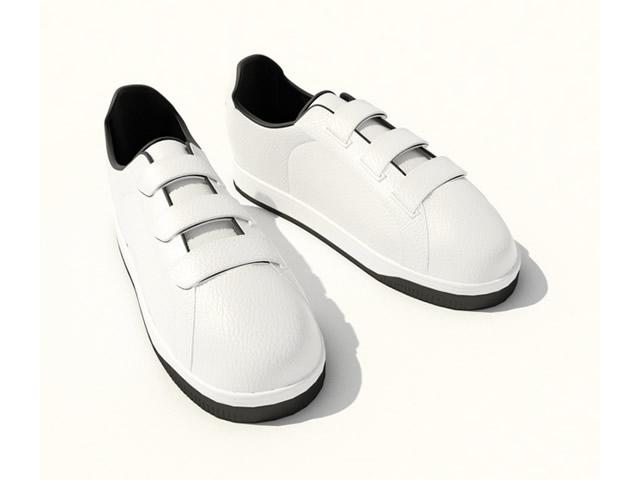 Men casual shoes 3d rendering
