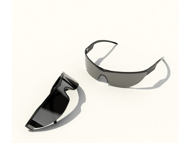 Sports Sunglasses 3d rendering