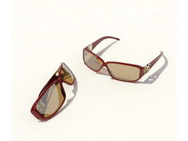 Women fashion sunglasses 3d preview