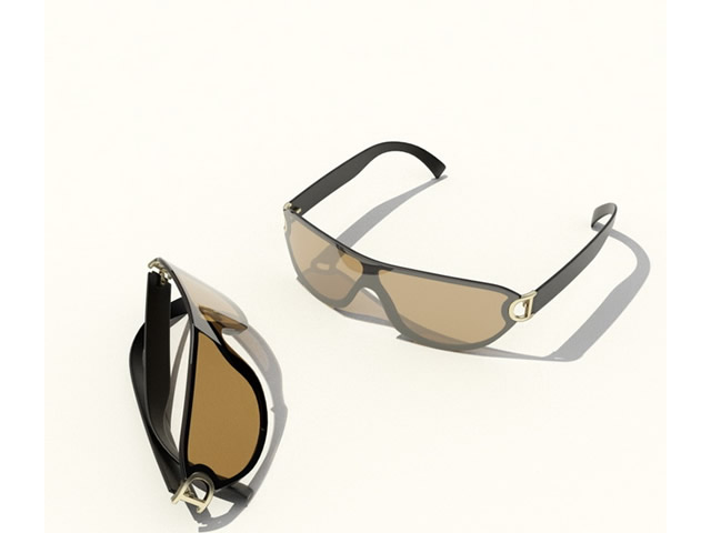 Mens sport sunglasses 3d rendering