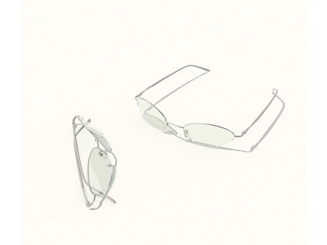 Optical eyeglasses 3d rendering