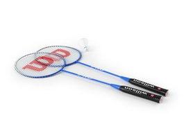Badminton rackets set 3d preview