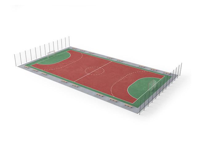 Lacrosse field 3d rendering