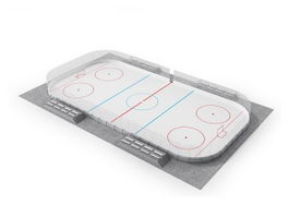 Ice hockey rink 3d preview