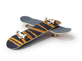 Maple skateboard 3d preview
