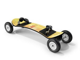 Electric skateboard 3d preview