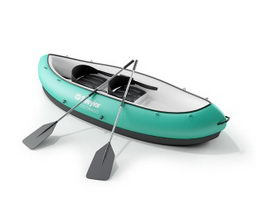 Canoeing and kayaking 3d model preview