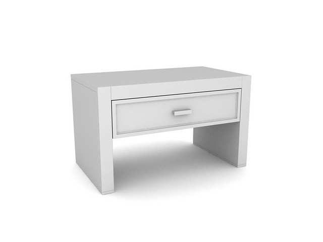 Corner table with drawer 3d rendering