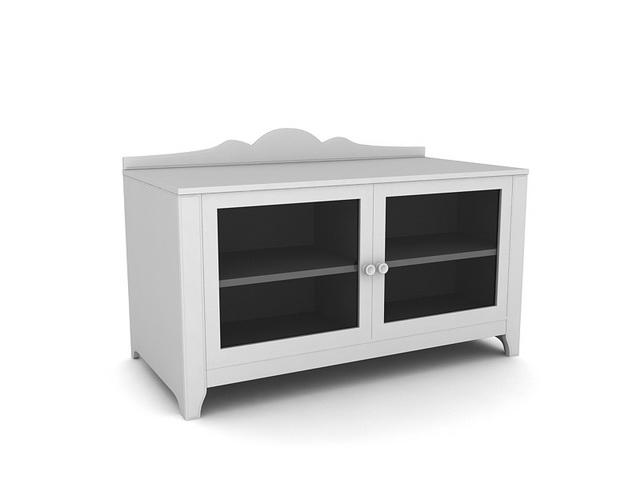 2 doors TV cabinet 3d rendering