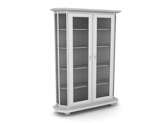 Wine display cabinet 3d rendering
