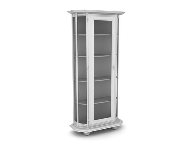 Corner display cabinet 3d rendering