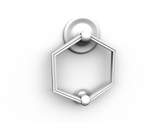 Door knocker handle 3d rendering