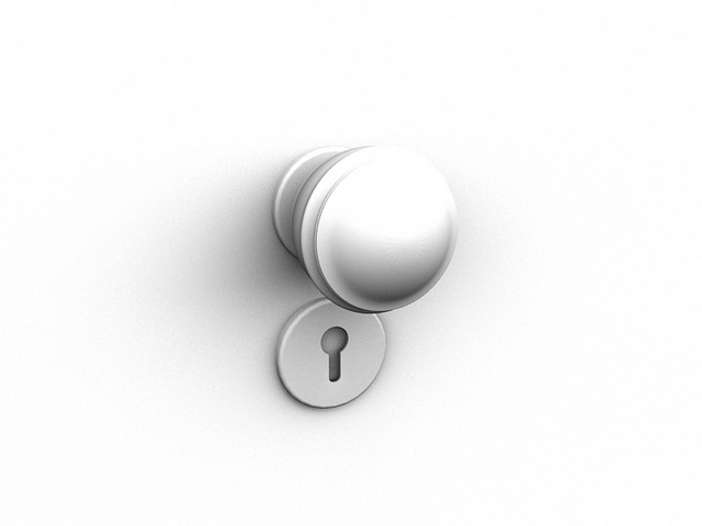 Ball knob handle 3d rendering