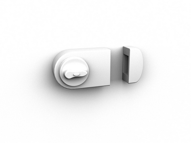 Security door lock 3d rendering