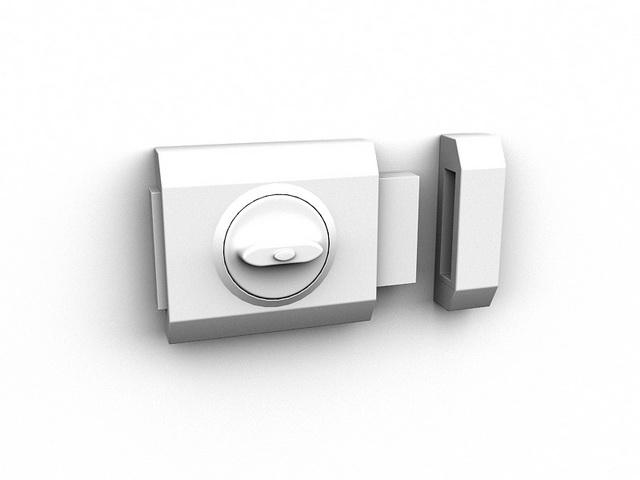 Door bar lock 3d rendering