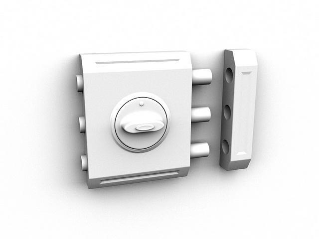 Safeguard door-lock 3d rendering