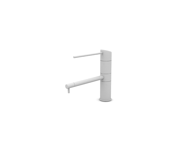 Single lever basin faucet 3d rendering