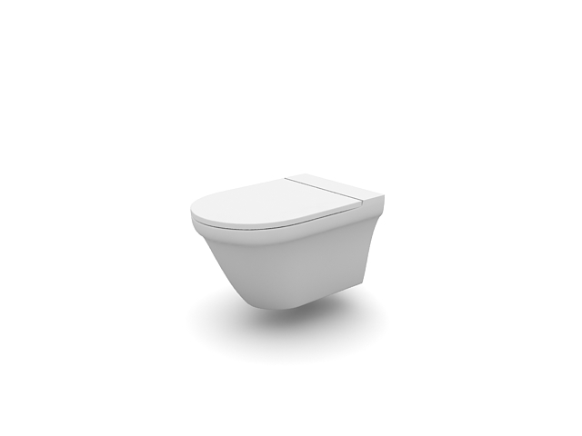 Saving water toilet 3d rendering