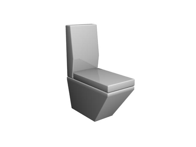 Floor mounted one piece toilet 3d rendering